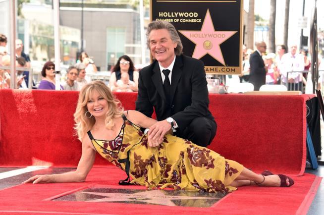 Una divertente foto di Goldie Hawn e Kurt Russell