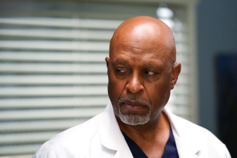 Richard Webber interpretato da James Pickens Jr. sul set di Grey's Anatomy