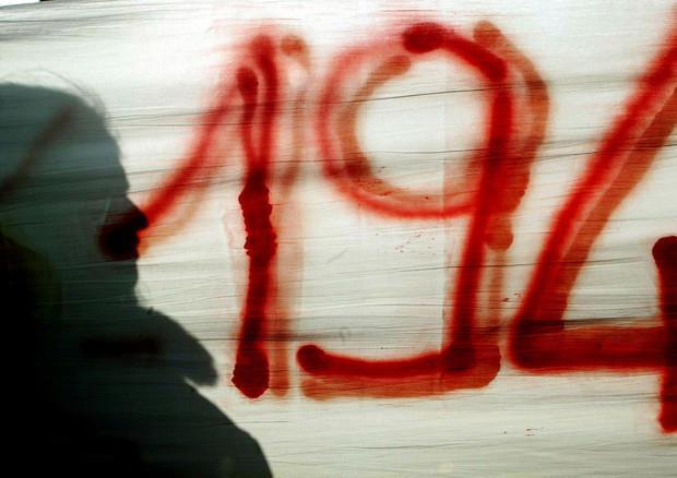 Striscione in una manifestazione pro aborto
