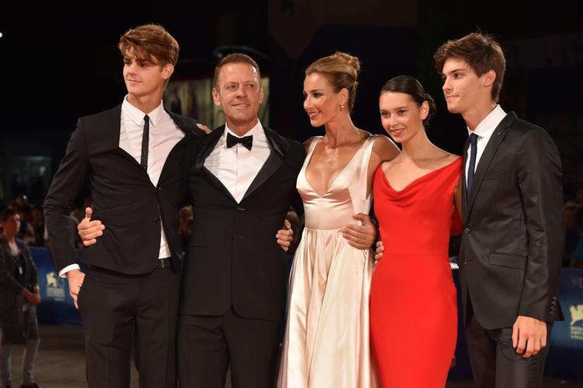 Rocco Siffredi con la sua famiglia