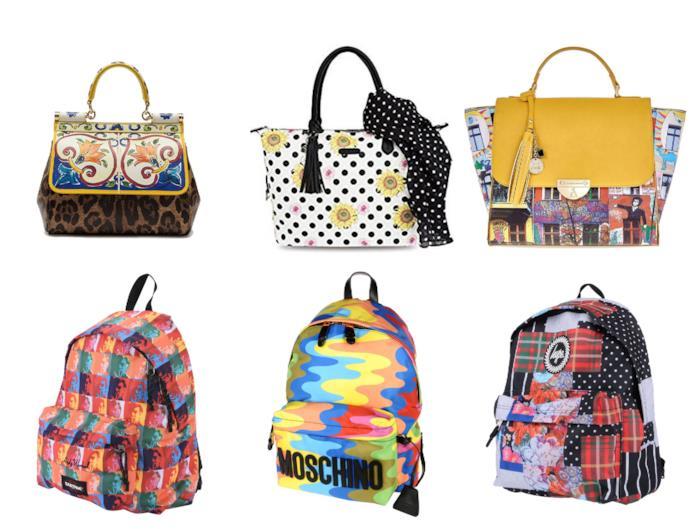 Stampa foulard per borse e zainetti di tendenza estate 2018
