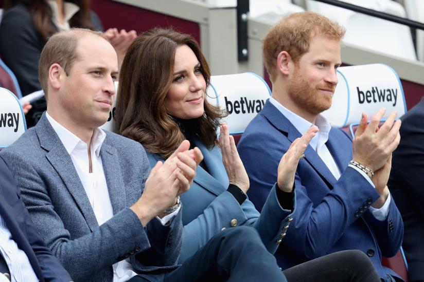 Il Principe William con Kate Middleton e Harry