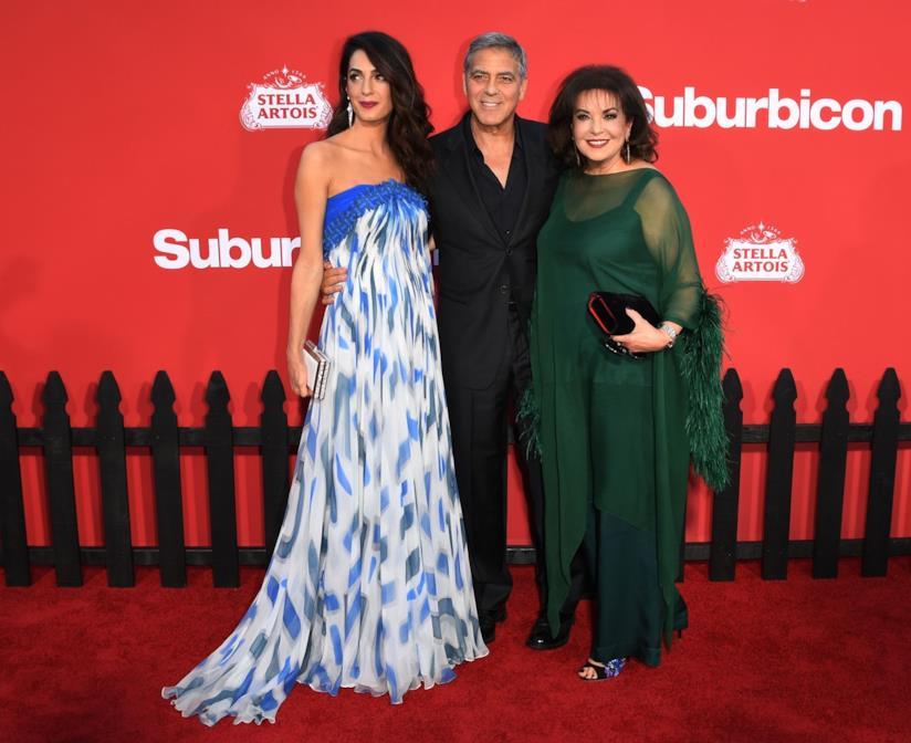 George Clooney, Amal Alamuddin e la mamma Baria
