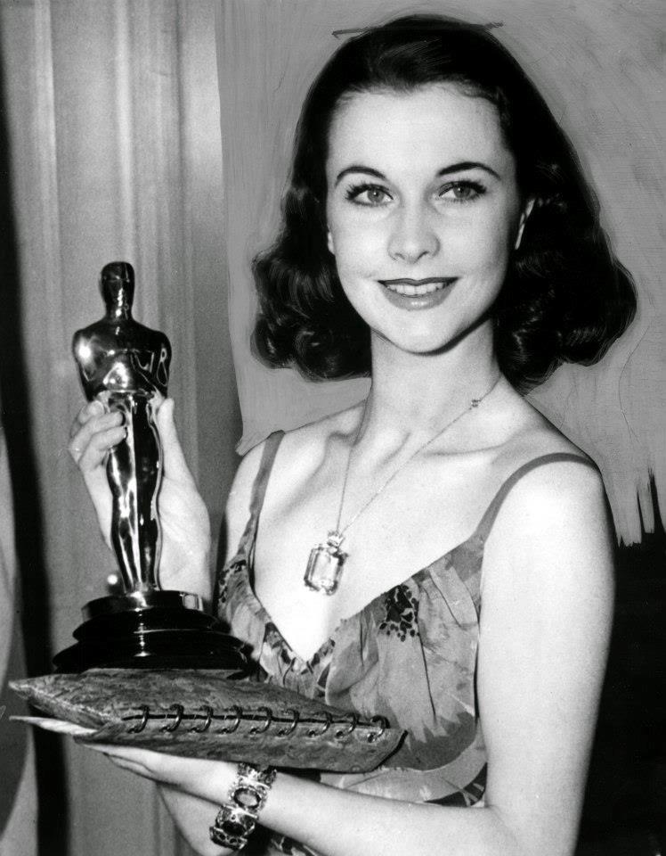 Vivien Leigh con il Premio Oscar