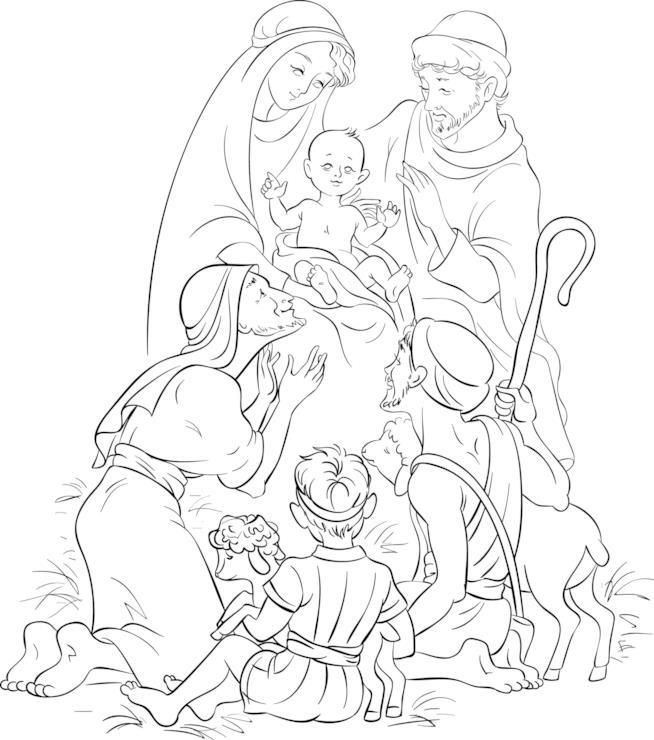 Scena del bambino Gesù