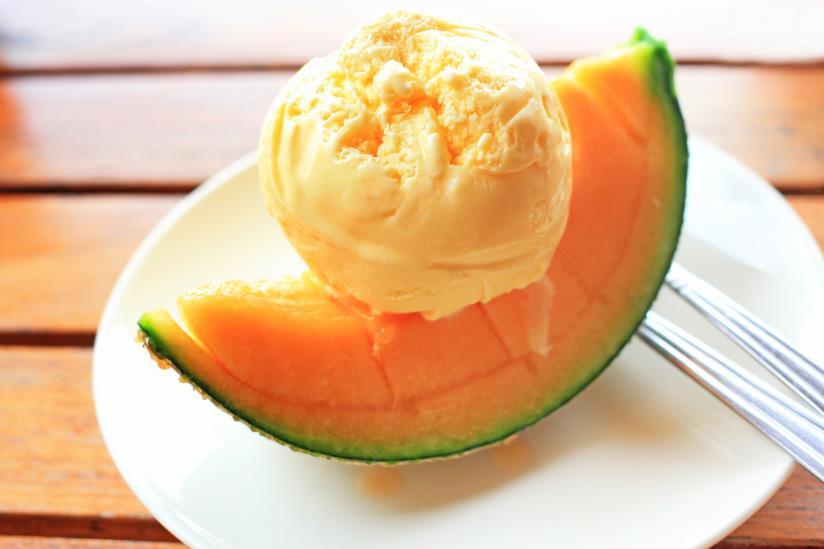 Fresco e prezioso è il gelato al gusto melone
