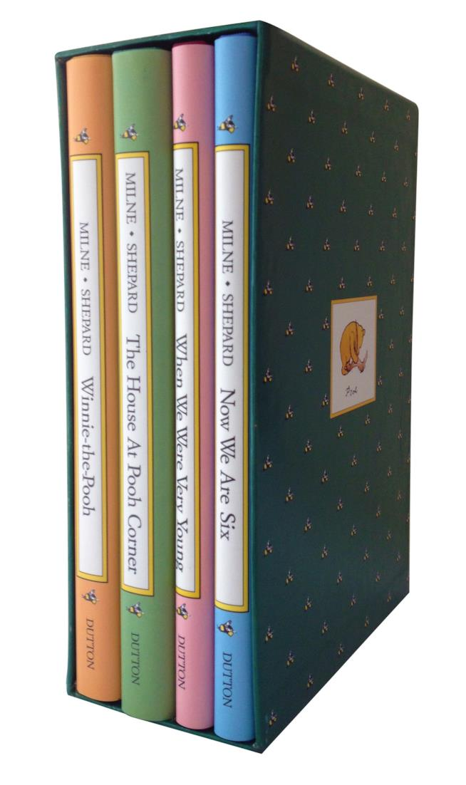 Cofanetto con le edizioni inglesi di Winnie the Pooh