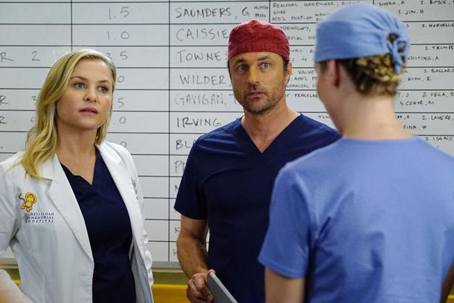 Jessica Capshaw e Martin Henderson in Grey's Anatomy