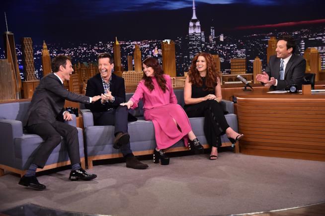 Il cast di Will & Grace al The Tonight Show di Jimmy Fallon
