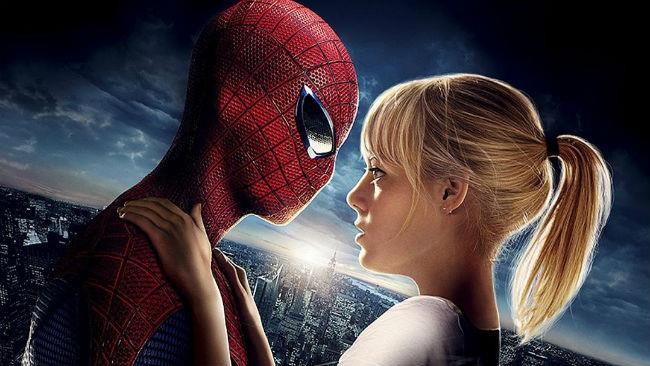 Andrew Garfield ed Emma Stone in The Amazing Spider-Man