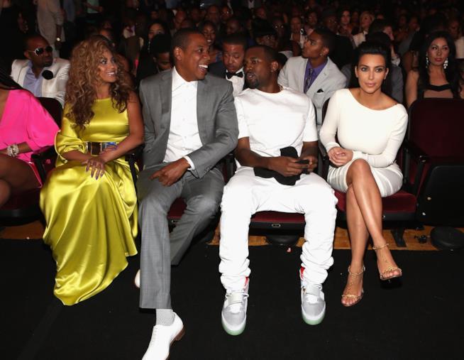 Kim Kardashian e Beyoncé con Kanye West e Jay-Z
