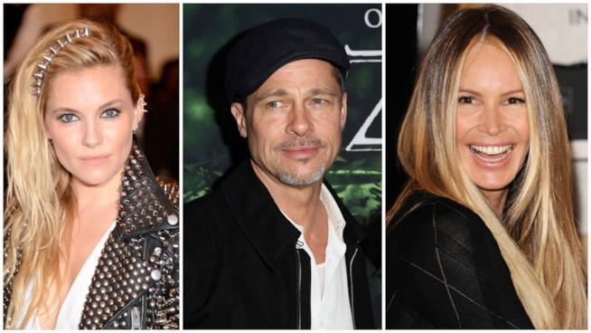 Brad Pitt tra Sienna Miller e Elle Macpherson