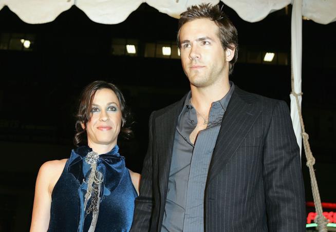 Alanis Morissette con Ryan Reynolds