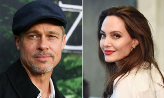 Collage tra Angelina Jolie e Brad Pitt