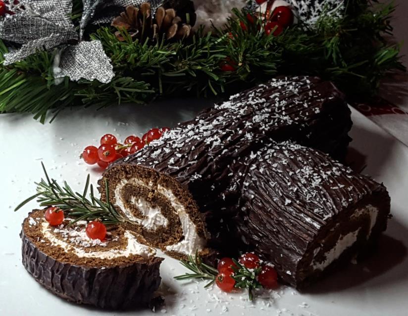 Tronco Di Natale Youtube.Tronchetto Al Cioccolato E Crema Di Formaggio