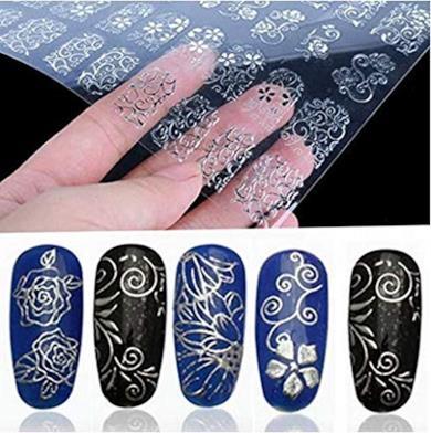 Adesivi floreali per nail art