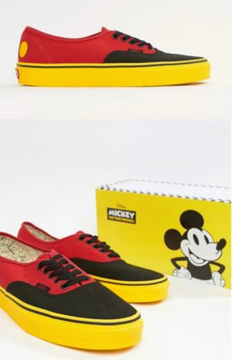 Vans x Mickey Mouse - Authentic - Scarpe di tela rosse
