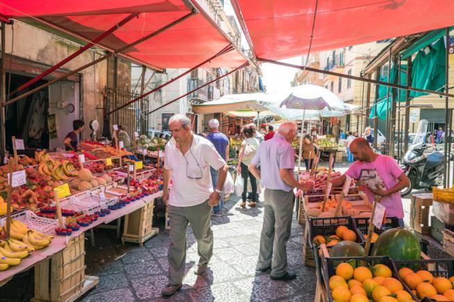 Un mercato di Palermo