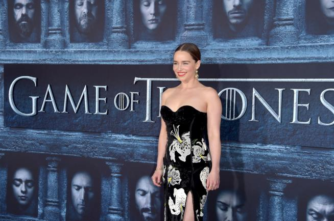 Emilia Clarke alla serata HBO per Games of Thrones