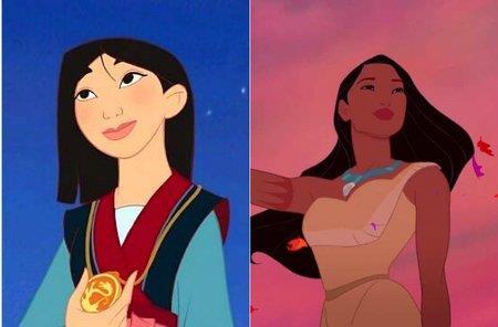 Le Principesse Disney Pocahontas e Mulan
