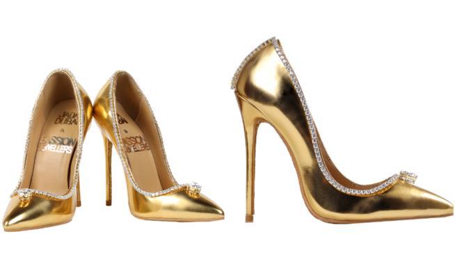 Collage tra due immagini delle scarpe più costose del mondo  Passion  Diamond Shoes 62b9fb1d28c