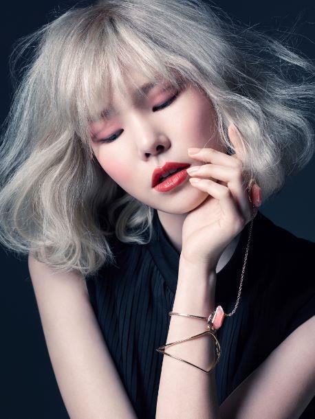 Uno scatto della modella coreana Jin Jung Sun