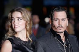 Gli attori Johnny Depp e Amber Heard