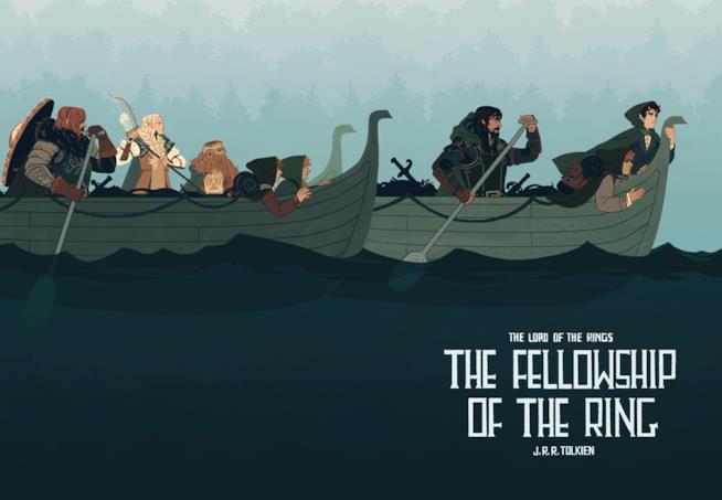 Illustrazione di Sara Kipin ispirata al Signore degli anelli
