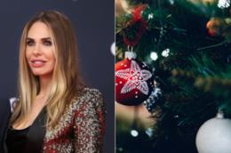 Collage tra Ilary Blasi e l'albero di Natale