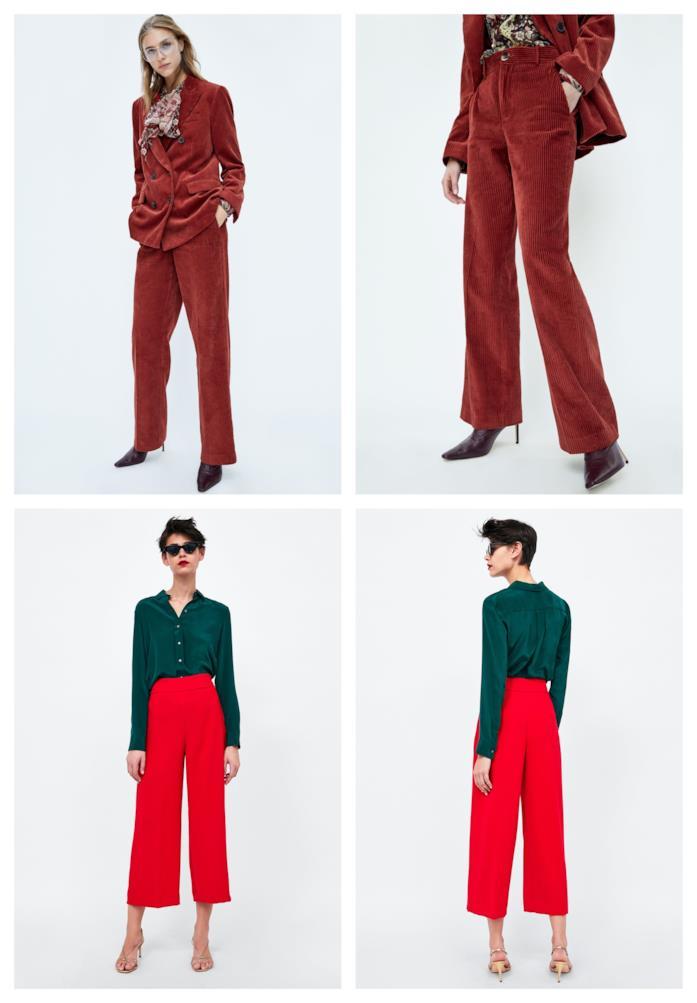A vita alta e rossi, i pantaloni di moda per l'autunno inverno 2018-19