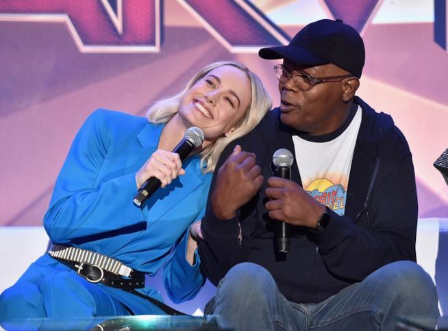 Brie Larson e Samuel L. Jackson