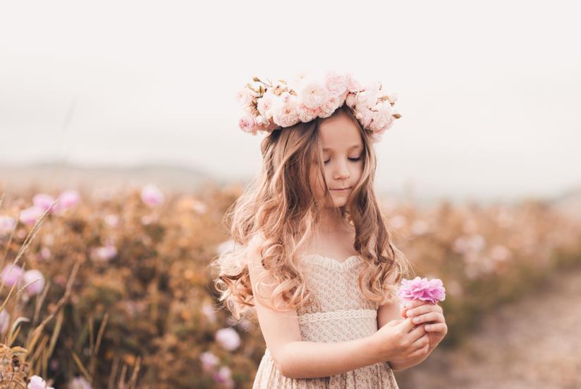 Hairstyle con coroncina di fiori