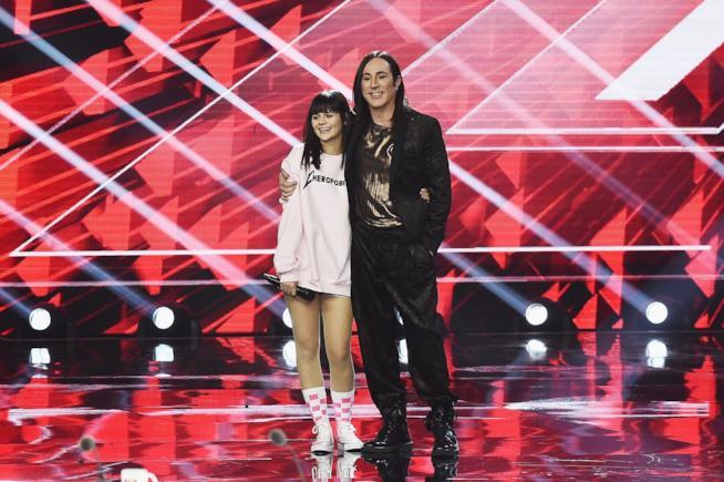 Manuel Agnelli con Martina Attili