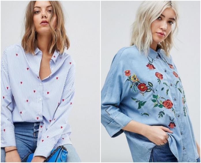 Collage di camicie ricamate Asos