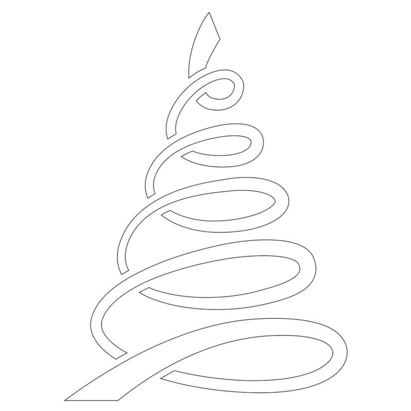 Albero di Natale con linee rotonde