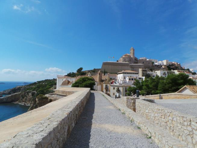 La zona vecchia di Ibiza