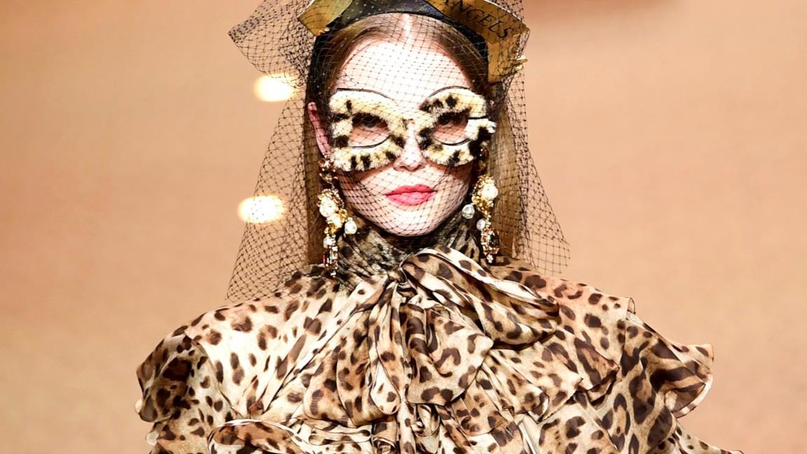 443612030672 I vestiti e gli accessori maculati nella collezione di Dolce   Gabbana