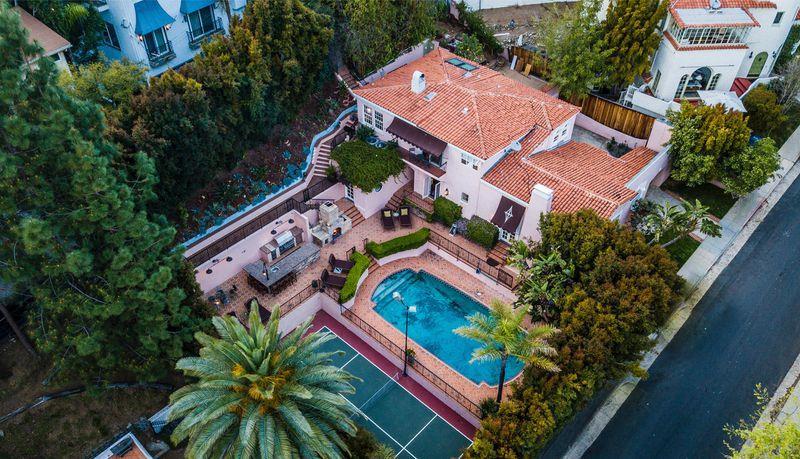 Un'immagine dall'alto della tenuta di Patrick Dempsey a Hollywood