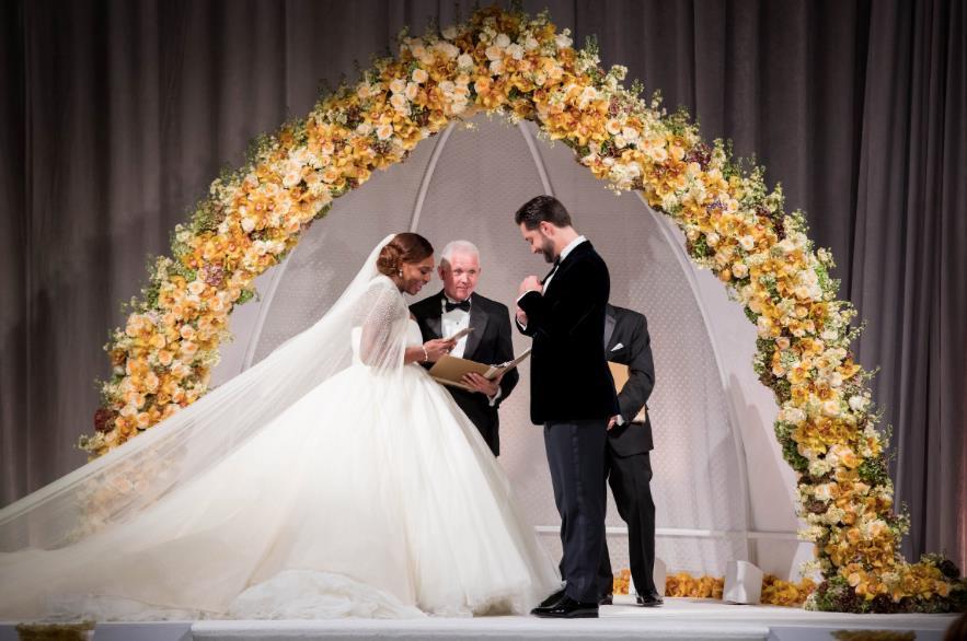 Il matrimonio da fiaba di Serena Williams