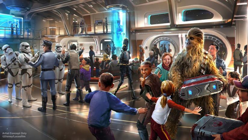 Concept art per lo Star Wars: Galactic Starcruiser
