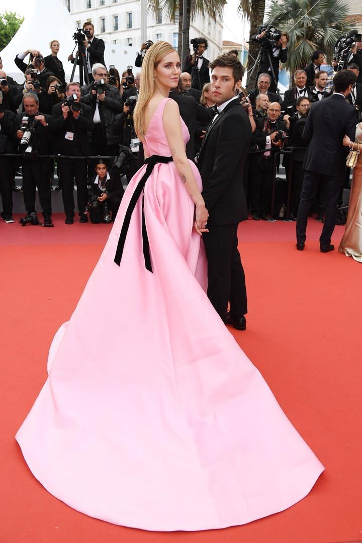 Chiara Ferragni e Fedez sul red carpet