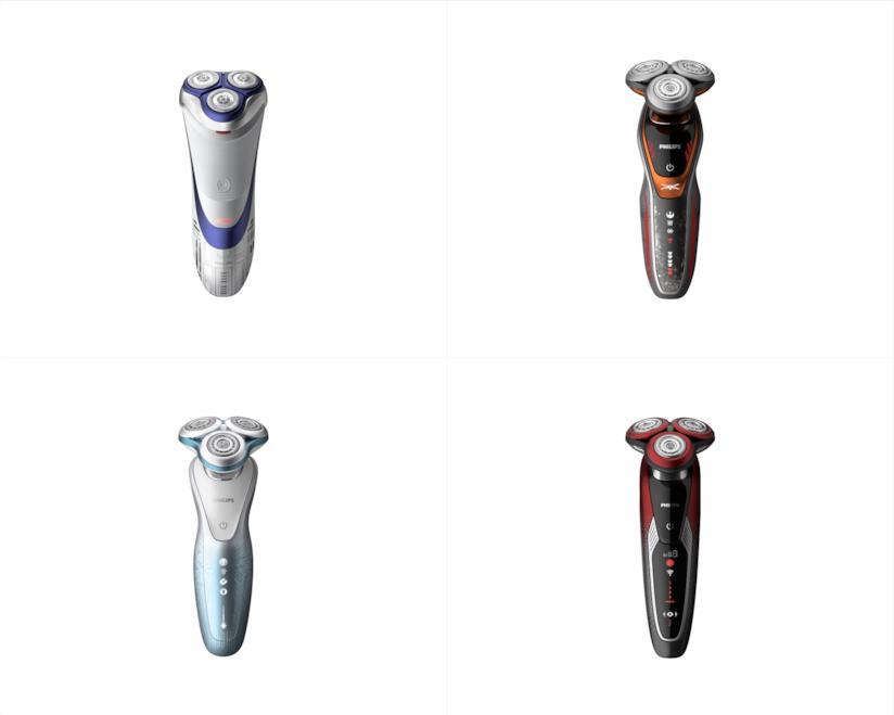 Quattro modelli di rasoi elettrici Philips ispirati a Star Wars