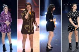 Collage dei look di Sanremo di Federica Carta