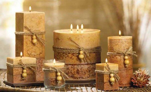 Un assortimento di candele profumate