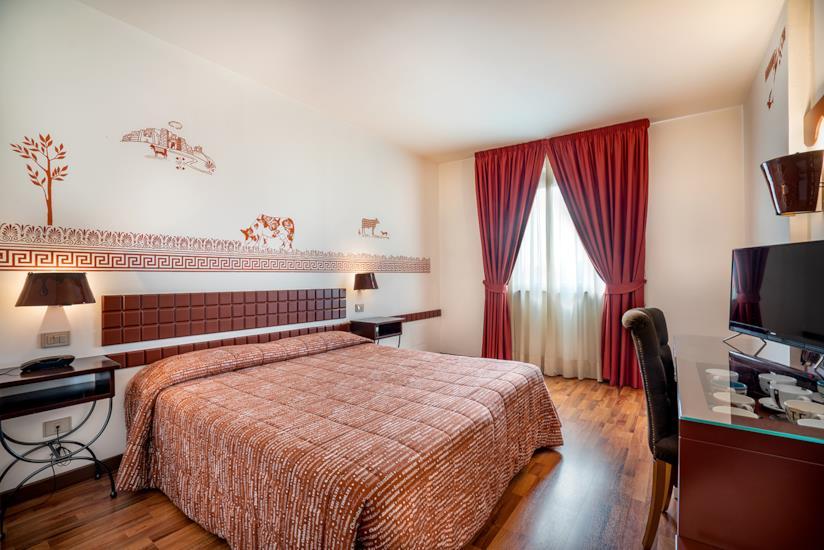 Una camera dell'hotel