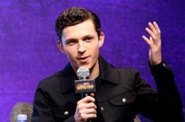 Tom Holland durante il tour promozionale di Avengers: Infinity War
