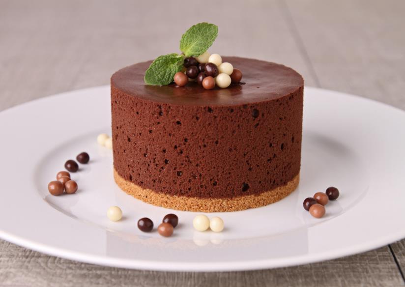 Torta mousse al cioccolato fondente