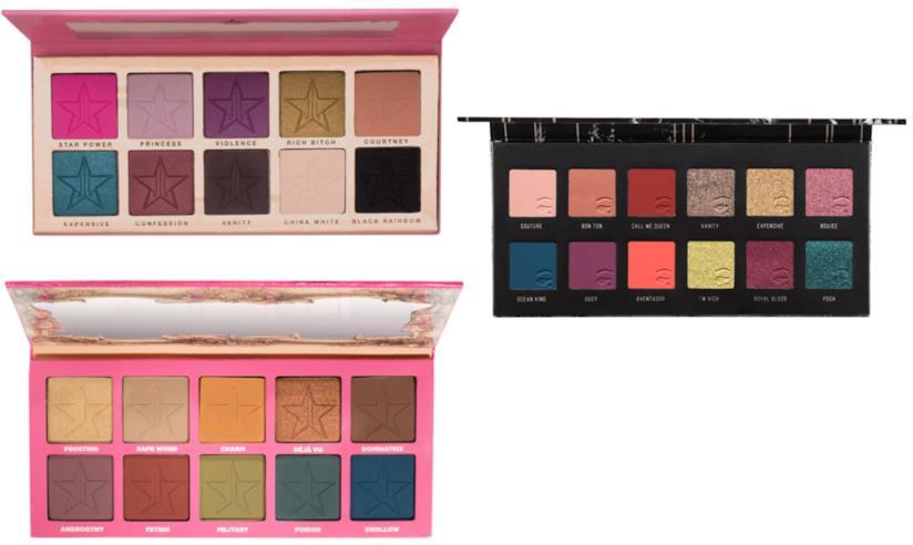 Palette ombretti Mulac Cosmetics e Jefree Star Cosmetics