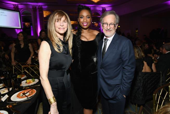Jennifer Hudson con Kate Capshaw e Steven Spielberg