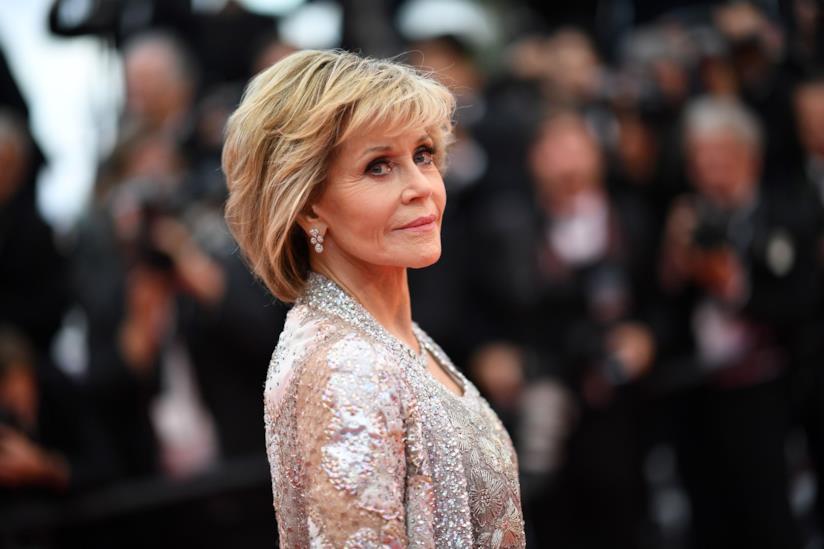 L'attrice Jane Fonda sul red carpet di Cannes